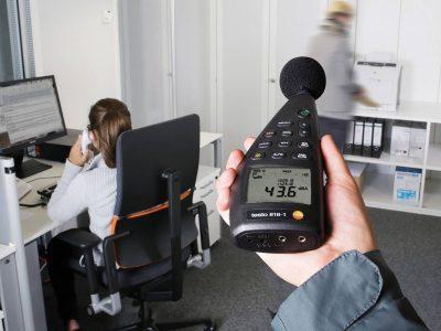 misurazione rumore ufficio